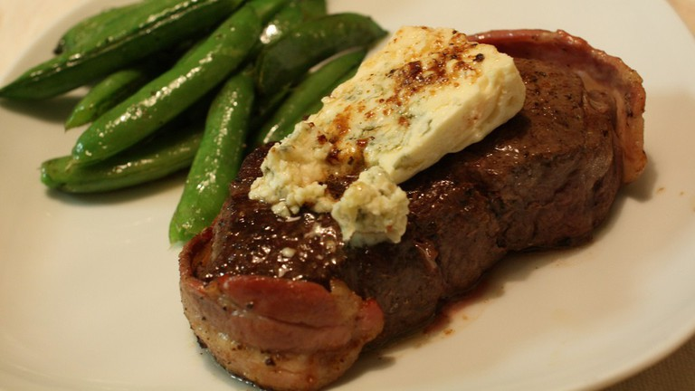 Filet Mignon with Blue Cheese