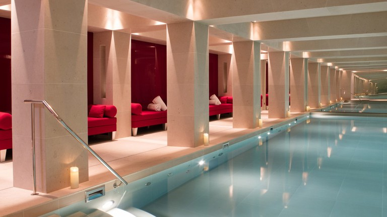 Indoor pool at La Réserve Paris