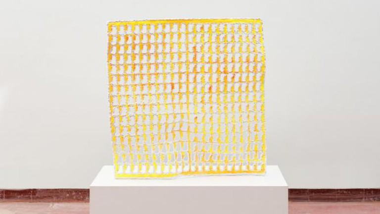 Michel François, 'Untitled', (99x99x11cm; metal, plaster, paint), 2008