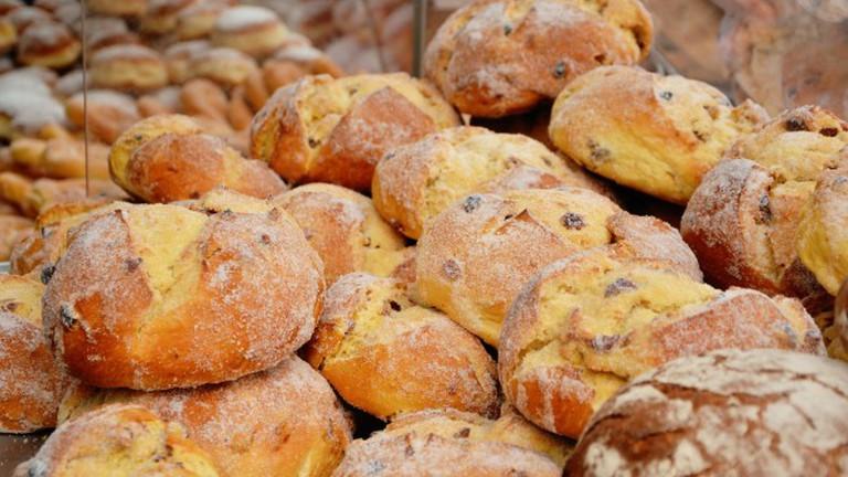Freshly baked raisin bread