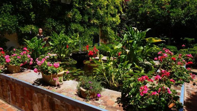 Colourful gardens in the grounds of the Palacio de Viana