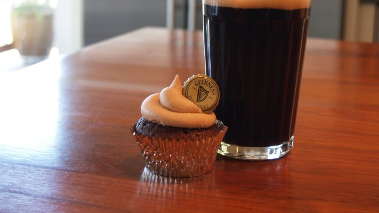 Cupcakes and beer