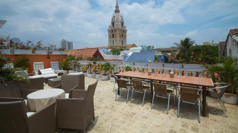 The iconic tower of Cartagena Cathedral