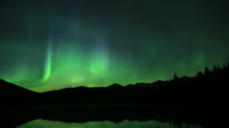 The Northern Lights in Jasper National Park