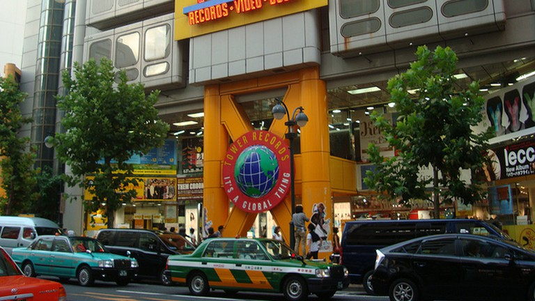 Tower Records in Japan's Shibuya