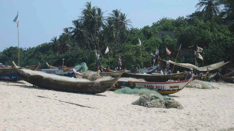 Fishing boats at White Sands