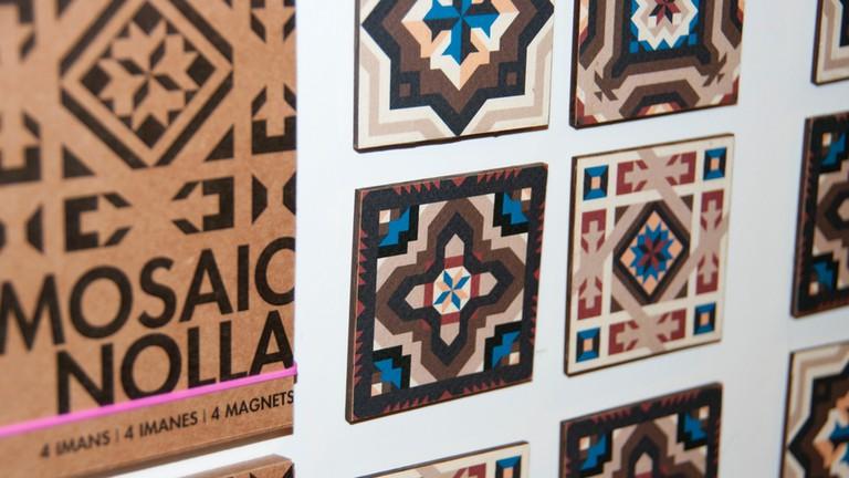 Mosaic prints at Atypical Valencia