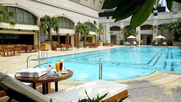 The outdoor pool at The Grand Hi Lai