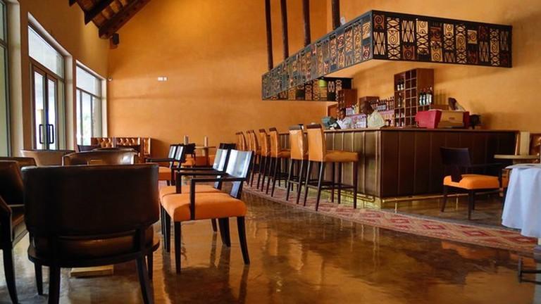The Palm Lounge Bar at the Royal Senchi Hotel