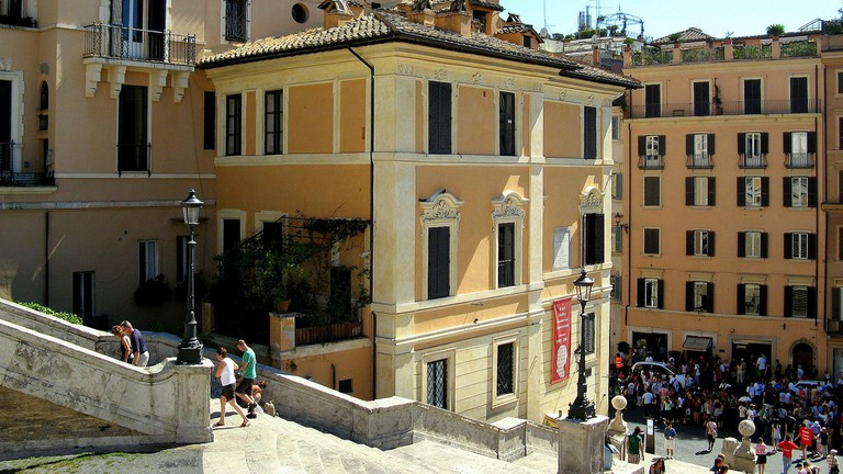 The Keat-Shelley Memorial House at Piazza di Spagna
