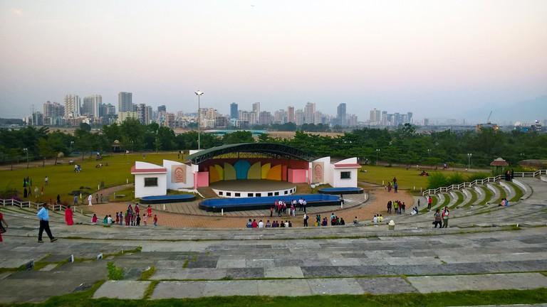 Open air amphitheater at Central Park, Kharghar, Navi Mumbai