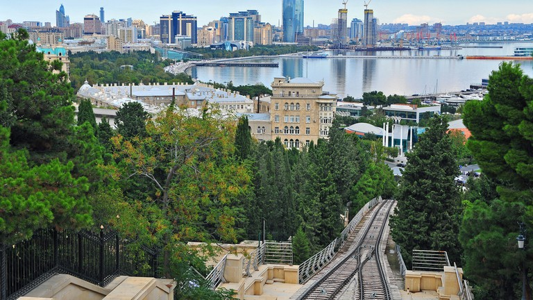 View of Baku city from the top of the funicular