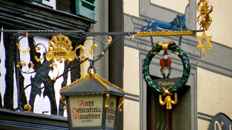 Schlenkerla brewery sign