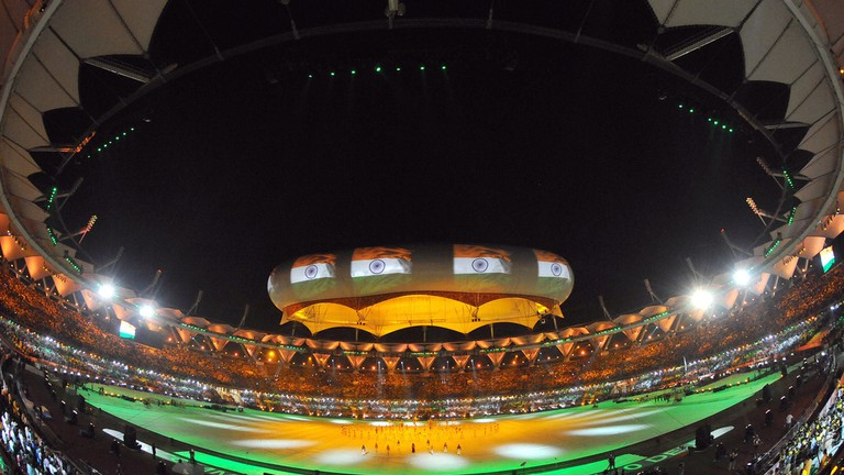 Closing ceremony of the XIX Commonwealth Games 2010 at Jawaharlal Nehru Stadium, New Delhi