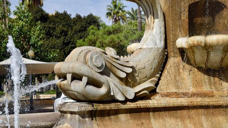 The Fountain of the Fish in Parque de las Familias