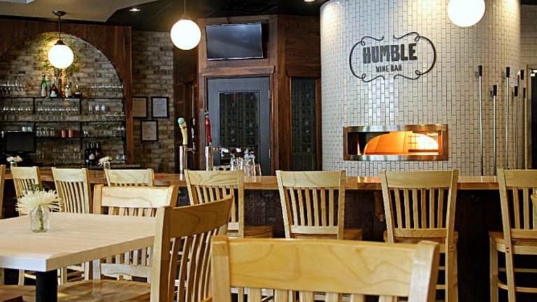 Inside Humble Wine Bar's dining room