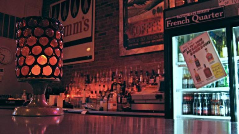The bar at Stella Blues
