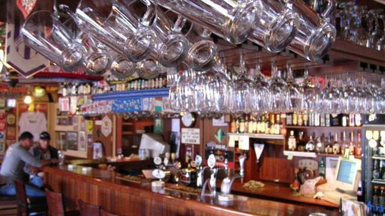 A View of the bar at Muza