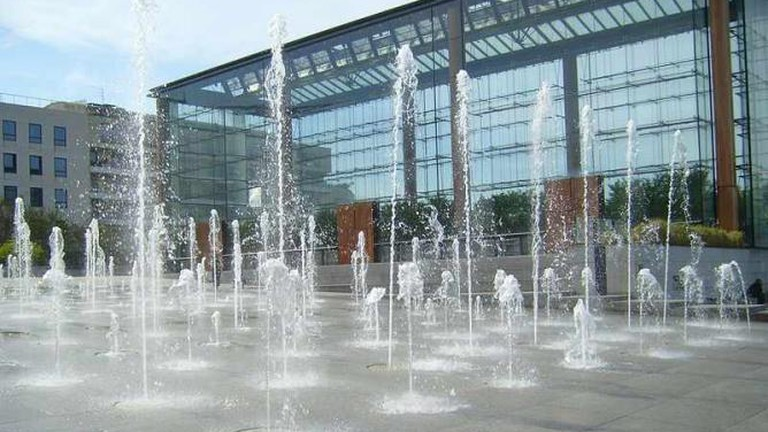 The fountains at the Parc André Citroën