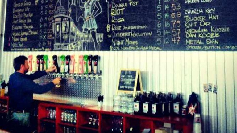 The taproom at Revolution Brewing