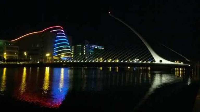 Dublin Docklands with the Convention Centre