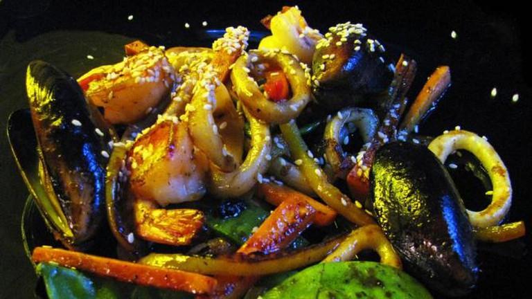 Warm Seafood Salad
