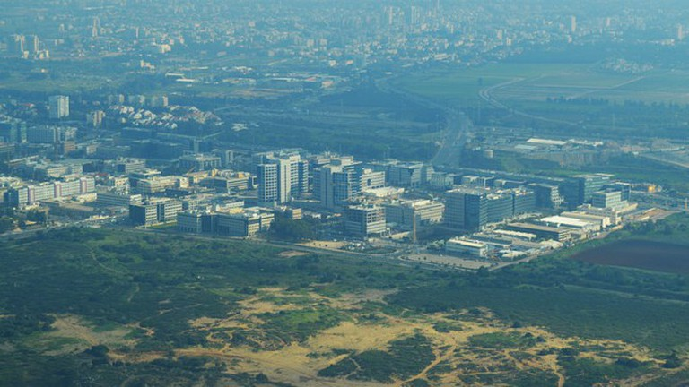 Overhead view of Herzliya Pituah
