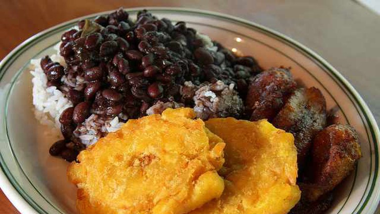 Black Beans and Rice with Plantains