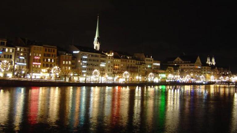 Scenic Zürich by night