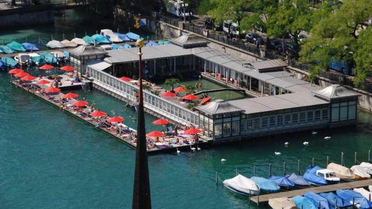 Zurich's Frauenbad/Barfussbar