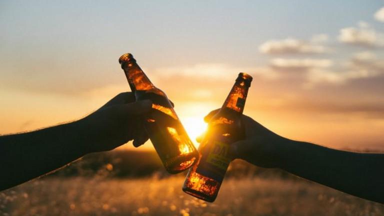 Enjoy a beer over sunset