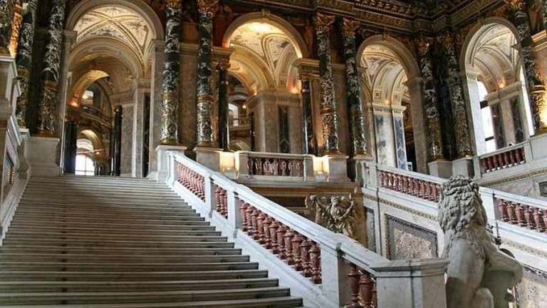 The dazzling staircase of the Museum of Art History