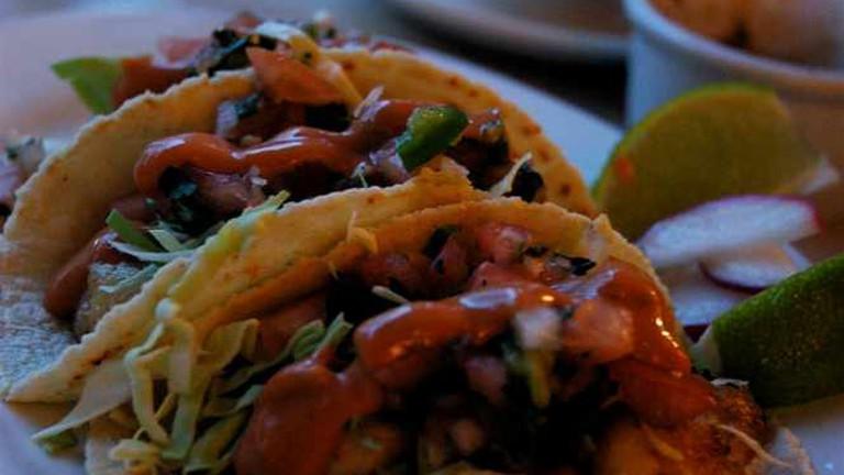 Halibut tacos at La Carta de Oaxaca