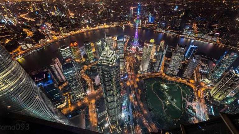 The beautiful night scenery of Shanghai