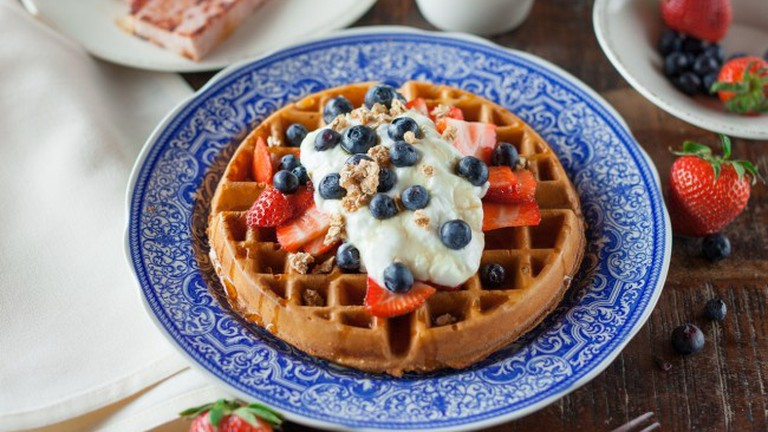 Waffles and Fruit