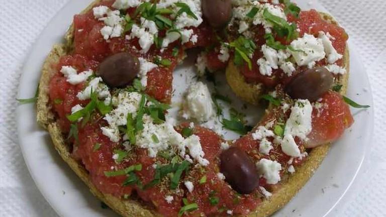 'Dakos', classic Cretan breakfast