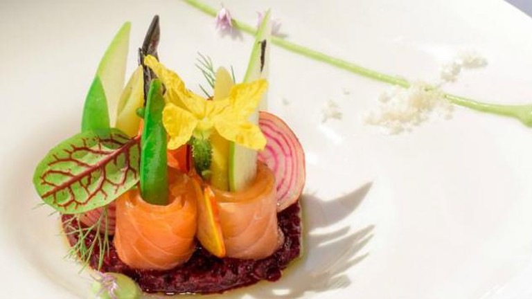 The River Café's Salmon Roll by Chef Brad Steelman