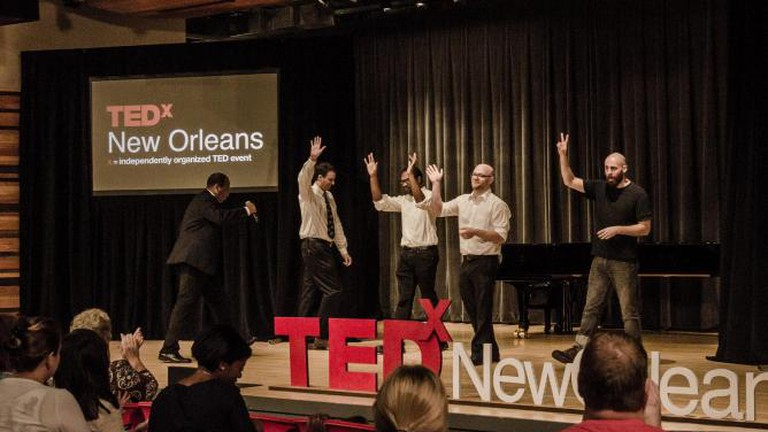 La Nuit Comedy Theater troupe performs at TEDxNewOrleans