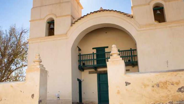 Church opposite Hacienda de Molinos