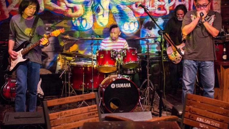 Blues performance at Crazy Elephant