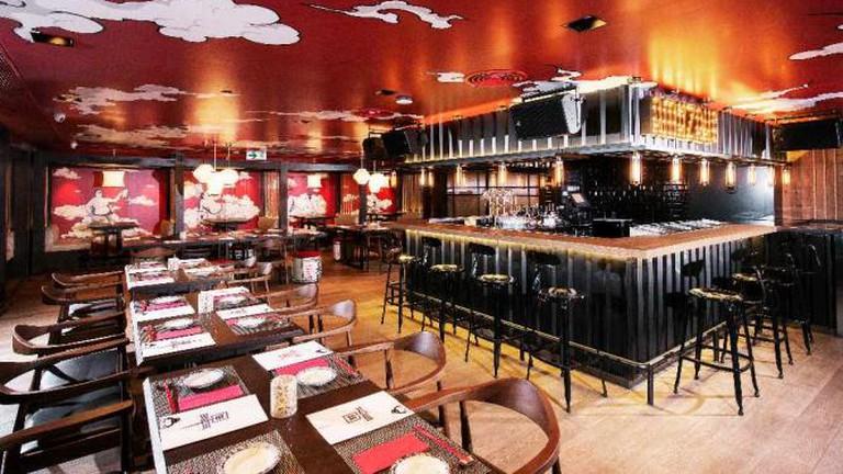 The bar at Amazake