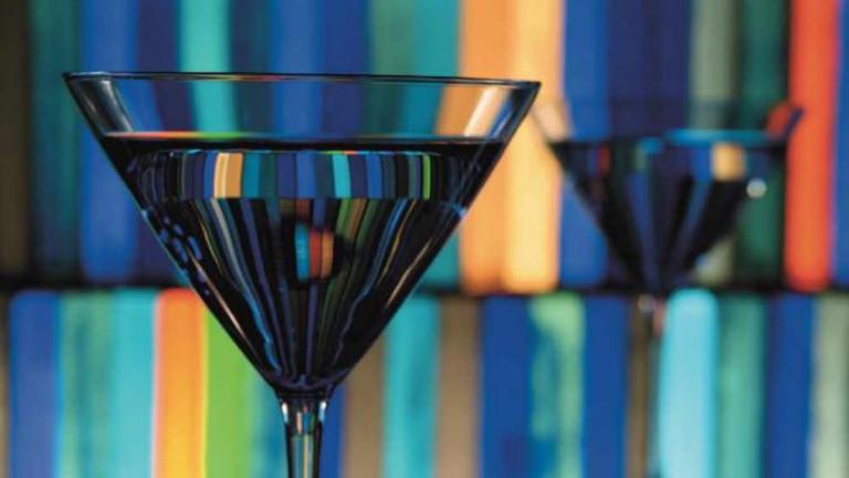 Martini at Blue Bar