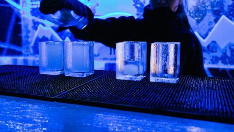 Drinks served in IceBar