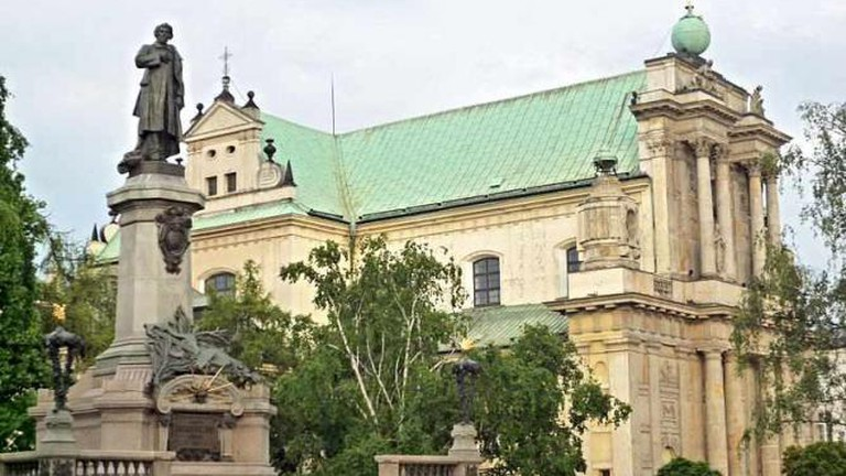 Church of the Assumption of the Virgin Mary and of St. Joseph and Adam Mickiewicz's monument