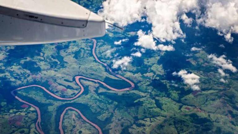 Bird's-eye view over Foz do Iguaçu