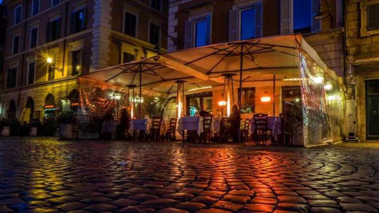 A bar in Trastevere