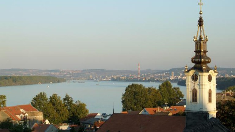 Поглед са Гардоша (view of Belgrade from Zemun)