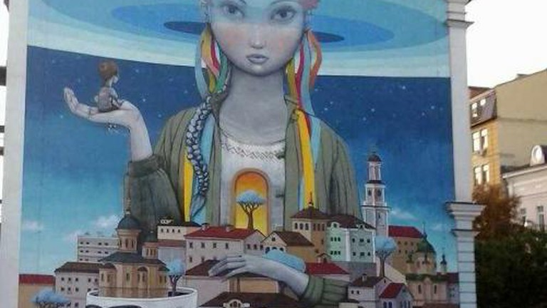 Street art on Andryivskyi Uzviz