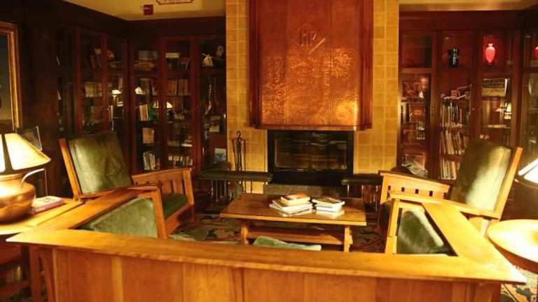 Willis Library in the Hotel Pattee