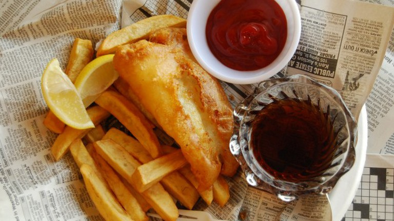 Fish & Chips is a popular dish at Pub 500